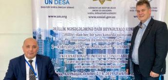 Einladung des Präsidenten der Union der (40) Behindertenorganisationen Aserbaidschans